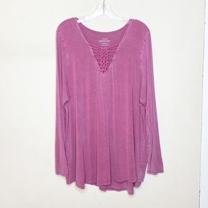 Torrid Super Soft Knits Long Sleeve V Neck Top